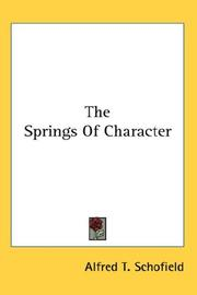 The Springs Of Character PDF