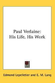 Paul Verlaine by Edmond Lepelletier