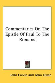 Commentaries On The Epistle Of Paul To The Romans