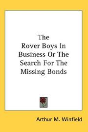 The Rover Boys In Business Or The Search For The Missing Bonds PDF