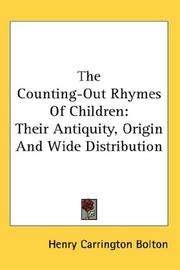 The counting-out rhymes of children by Bolton, Henry Carrington