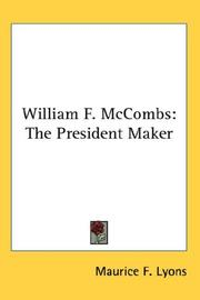 William F. McCombs by Maurice F. Lyons