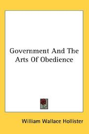 Government And The Arts Of Obedience PDF