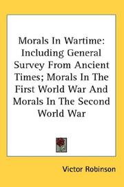 Morals In Wartime by Victor Robinson
