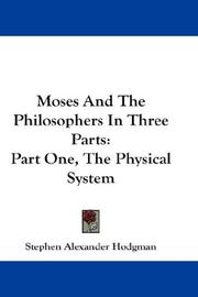 Moses And The Philosophers In Three Parts PDF