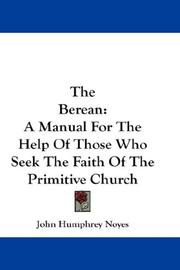 The Berean by John Humphrey Noyes