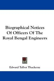 Biographical Notices Of Officers Of The Royal Bengal Engineers PDF