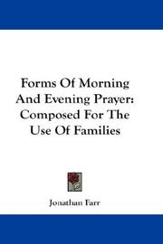 Forms Of Morning And Evening Prayer PDF