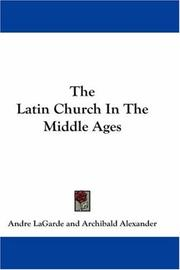 The Latin Church In The Middle Ages PDF