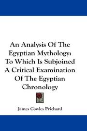 An Analysis Of The Egyptian Mythology by Prichard, James Cowles