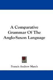 A Comparative Grammar Of The Anglo-Saxon Language PDF