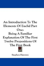 An Introduction To The Elements Of Euclid Part One PDF
