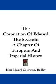 The Coronation Of Edward The Seventh by John Edward Courtenay Bodley