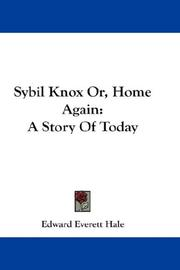 Sybil Knox Or, Home Again PDF