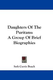 Daughters of the Puritans by Seth Curtis Beach