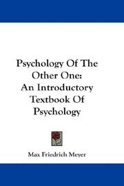 Psychology Of The Other One PDF