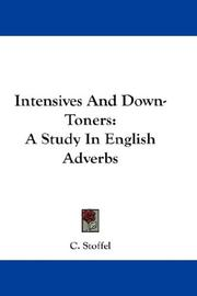 Intensives And Down-Toners by C. Stoffel