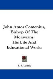 John Amos Comenius, Bishop Of The Moravians PDF