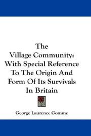 The village community by George Laurence Gomme