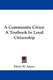 A Community Civics PDF
