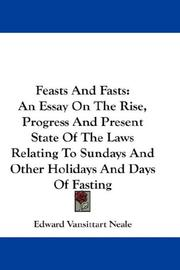 Feasts And Fasts by Edward Vansittart Neale