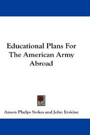 Educational Plans For The American Army Abroad PDF