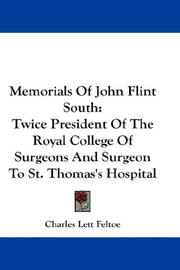 Memorials Of John Flint South PDF