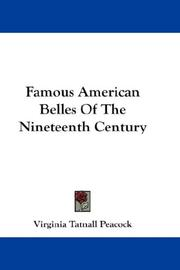 Famous American belles of the nineteenth century PDF