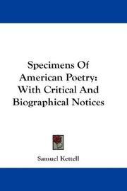 Specimens of American poetry PDF