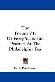 The Forum V1 PDF