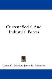 Current Social And Industrial Forces PDF