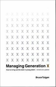 Cover of: Managing Generation X | Bruce Tulgan