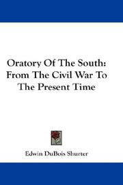 Oratory Of The South PDF