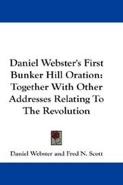 Daniel Webster's First Bunker Hill Oration PDF