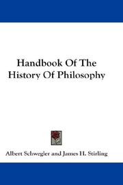 Handbook of the history of philosophy by Schwegler, Albert
