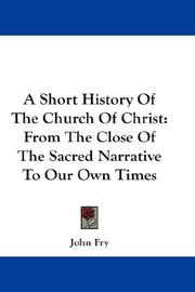 A Short History Of The Church Of Christ PDF
