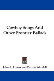 Cowboy Songs And Other Frontier Ballads PDF