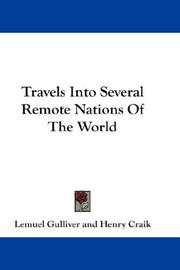 Travels Into Several Remote Nations Of The World PDF