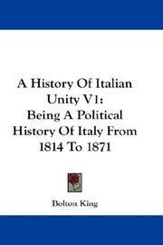 A History Of Italian Unity V1 PDF
