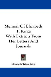 Memoir Of Elizabeth T. King PDF