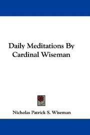 Daily Meditations By Cardinal Wiseman PDF