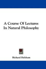 A course of lectures in natural philosophy by Richard Helsham