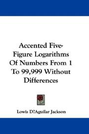 Accented Five-Figure Logarithms Of Numbers From 1 To 99,999 Without Differences PDF