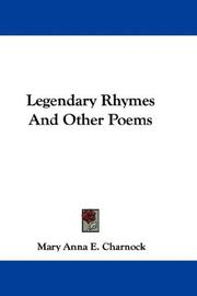 Legendary Rhymes And Other Poems PDF