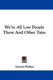 We're All Low People There And Other Tales PDF