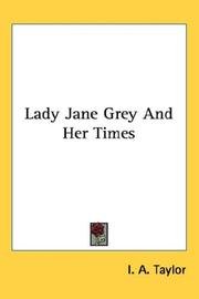 Lady Jane Grey And Her Times PDF