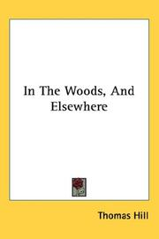 In The Woods, And Elsewhere PDF