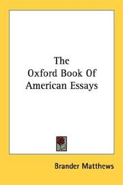 The Oxford Book Of American Essays PDF