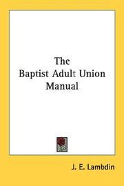 The Baptist Adult Union Manual PDF