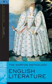 Cover of: The Norton Anthology of English Literature, Eighth Edition, Volume 1 by Stephen Greenblatt